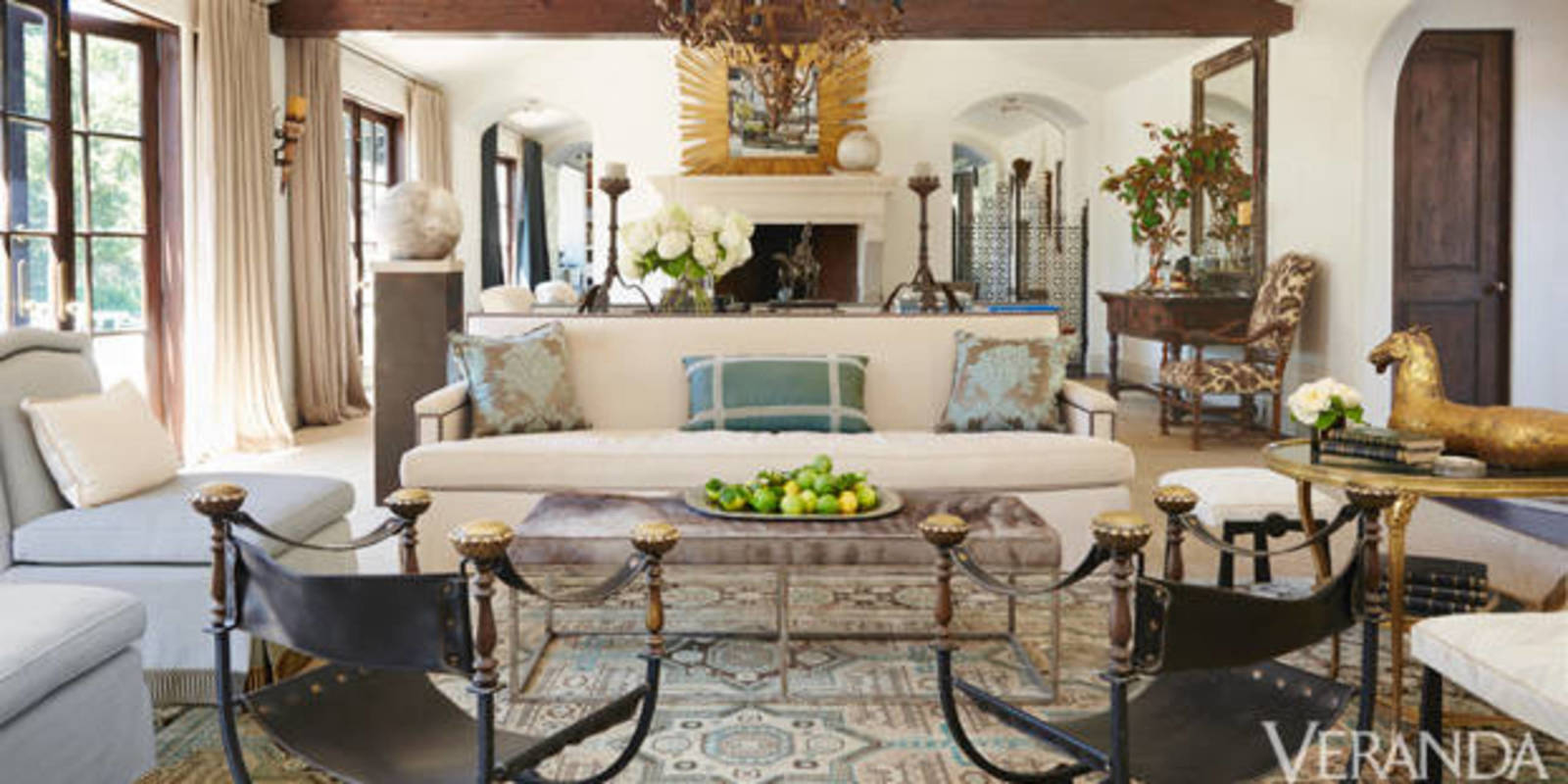 Rustic and refined los angeles ranch windsor smith - Modern ranch home interior design ...