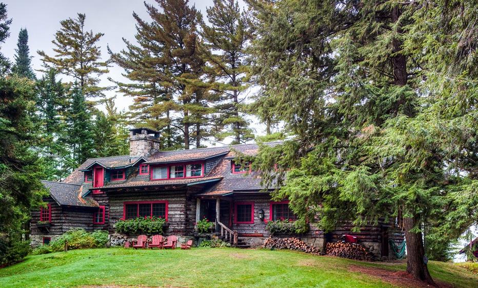 For sale j p morgan 39 s 120 year old adirondacks home for Adirondack lake house plans