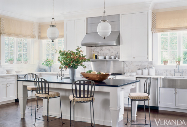 Veranda Magazine  Designer Best Paint Color For Small Kitchen