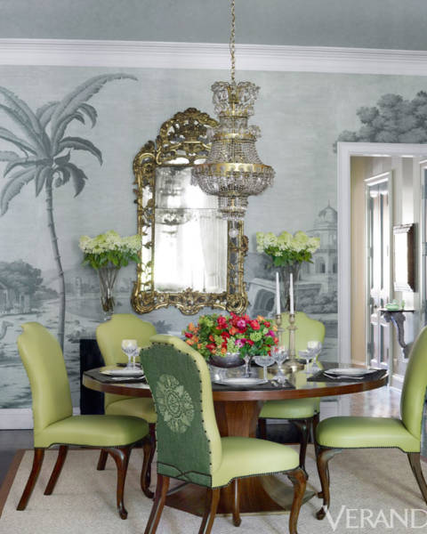 Custom Table And Chairs Antique Chandelier Mirror NP Trent