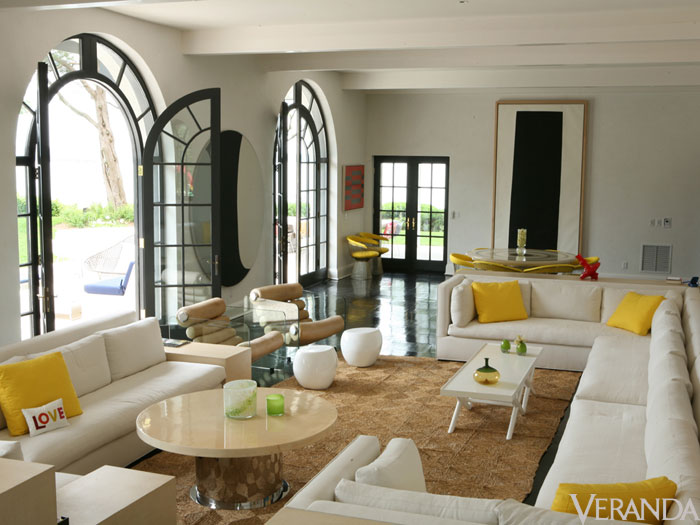 Lisa perry beach house mod style for Veranda living rooms