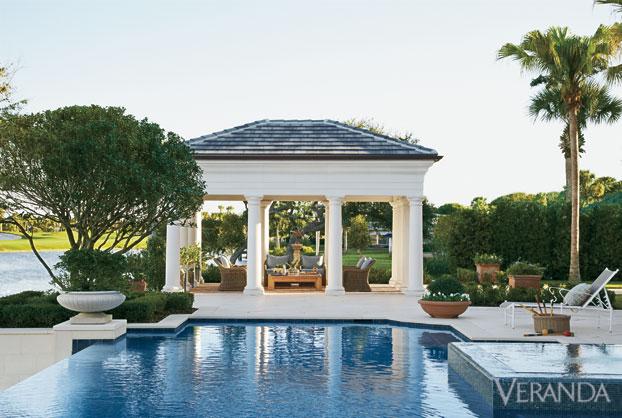 Veranda 39 s most memorable pools best pool designs for Pool pavilion plans